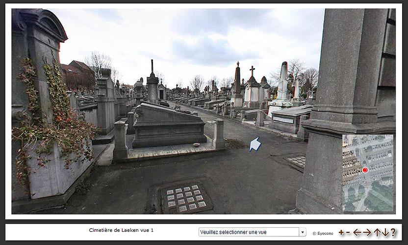 Visites virtuelles du Cimetière de Laeken
