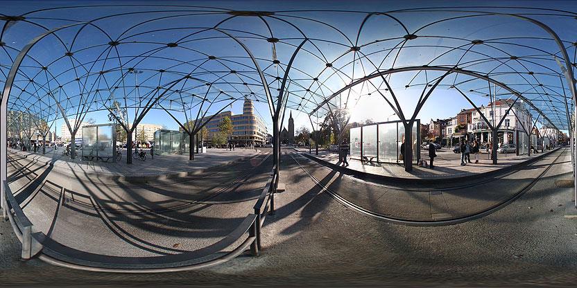 Auvent pour trams, Place Eugène Flagey