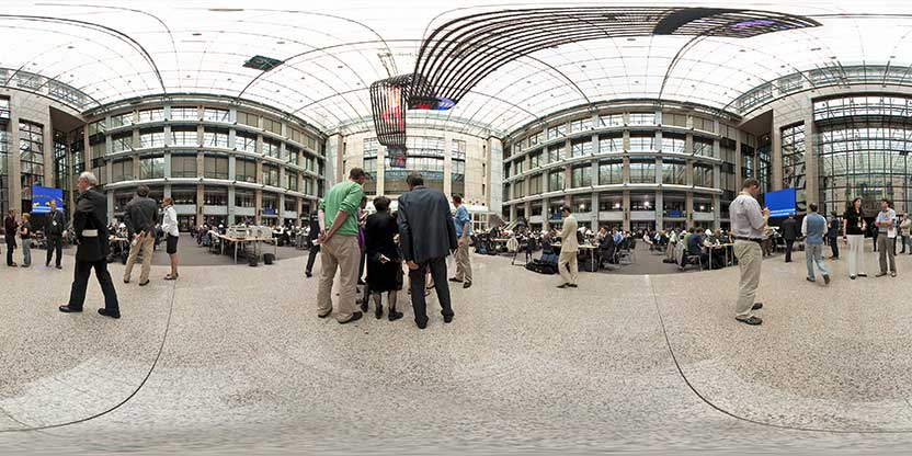 L'Atrium du Conseil de l'Union européenne (Sommet de juin 2010)